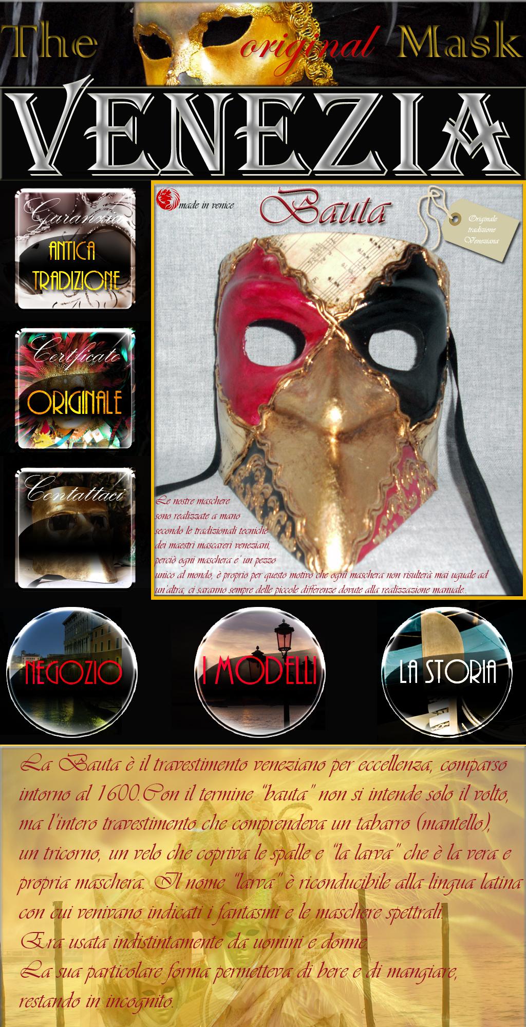 maschera veneziana bauta