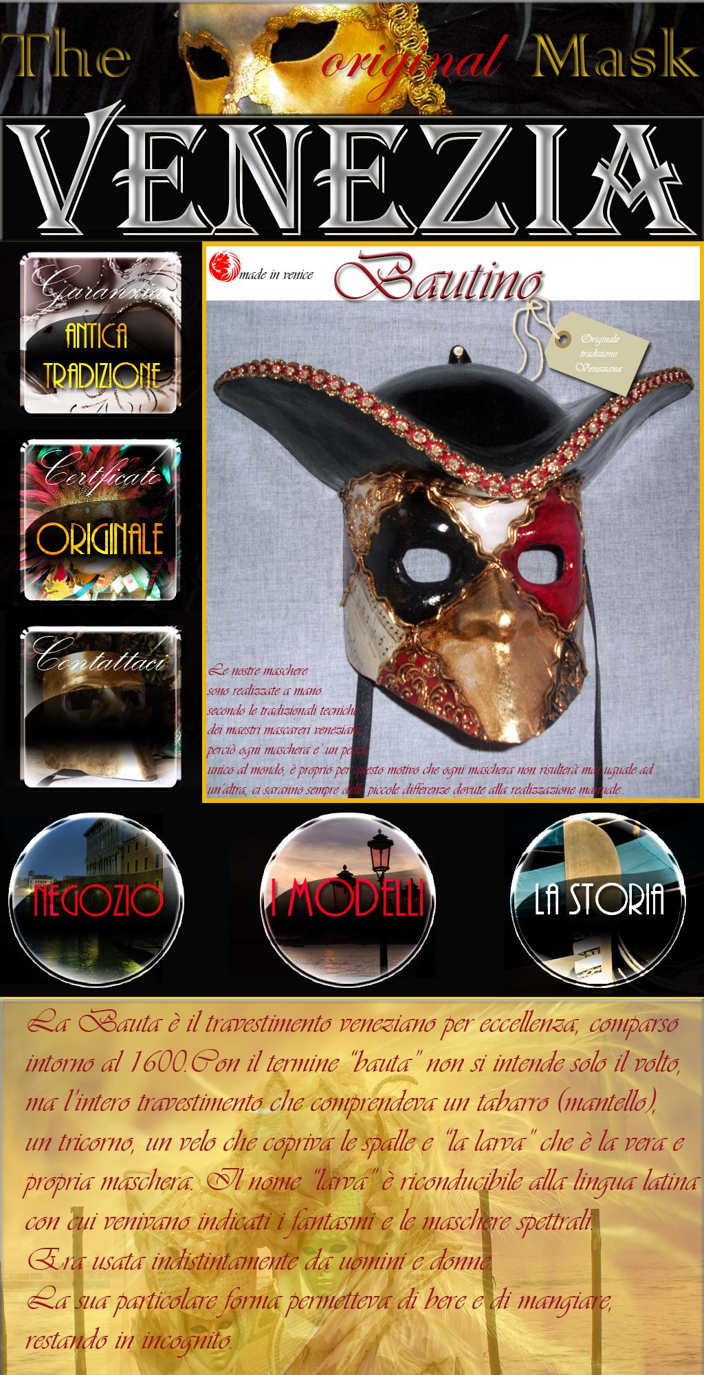 maschera veneziana bautino